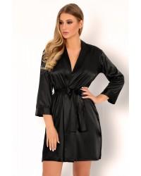 Халат чёрный Edelina Livia Corsetti Fashion
